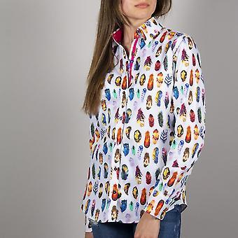 CLAUDIO LUGLI WOMENSWEAR mehrfarbige Feder Print Shirt