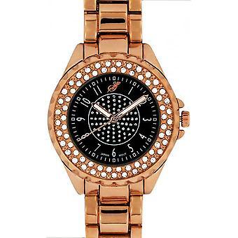 Watch Jean Bellecour Big City Dreams A0267-6 - Pink Gold Women's Crystals Watch