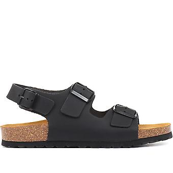 Jones Bootmaker Mens volledig verstelbare lederen sandaal