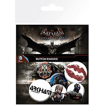 Batman Arkham Knight Pin Button Badges Set