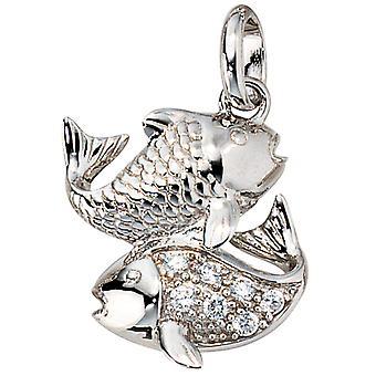 Trailer Zodiac fish Silver 925 sterling silver 3D