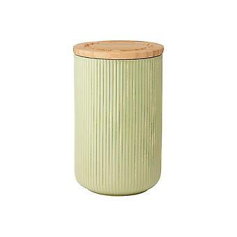 Ladelle Stak Textured Sage Canister, 17cm