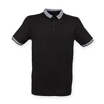 Skinnifit Mens Fashion Short Sleeve Polo Shirt With Jacquard Contrast