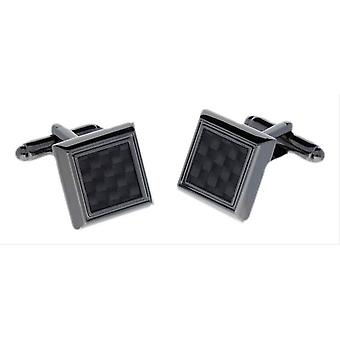 Duncan Walton Edger Carbon Fibre Cufflinks - Black