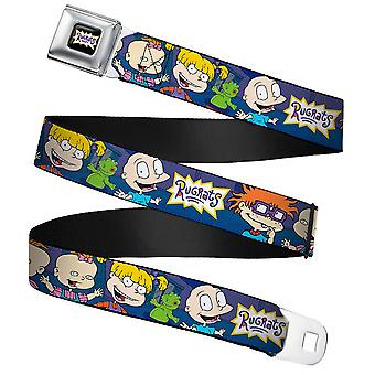 Children's Rugrats Group Pose Full Colour Seatbelt Buckle Belt (20-36