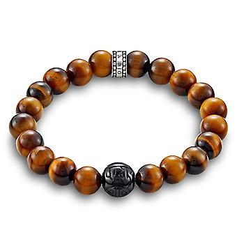 Thomas Sabo Tigers Eye & Obsidian Bead Bracelet