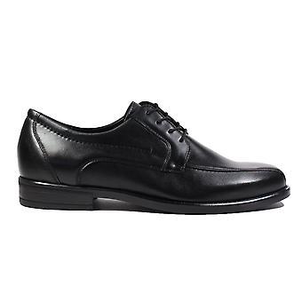 Waldläufer Henry 319004 149 001 zwart leer mens Lace up formele schoenen