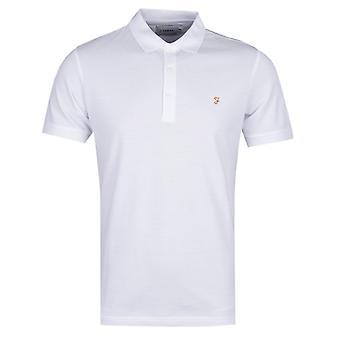 Farah Blaney White Pique Polo Shirt