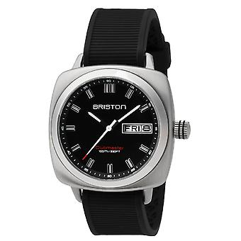 Briston 16342.S.SP.1.RB Clubmaster Sport Steel Wristwatch Black Dial