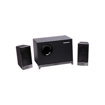 SonicGear Morro 2 2.1 Speaker With Wooden Sub Woofer Set - Grey