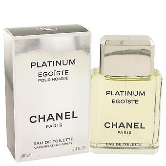 Egoiste Platinum Eau De Toilette Spray By Chanel 3.4 oz Eau De Toilette Spray