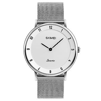 Skmei Mens Watch Classic Silver Dial Ultra Thin Stainless Steel Mesh Strap SK1264