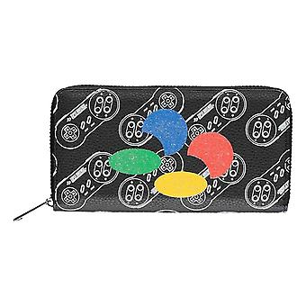 Nintendo Purse Snes Controller All over Print new Official Black Zip Around
