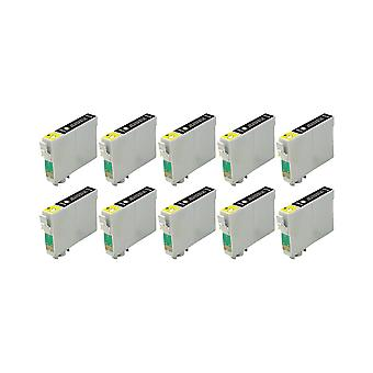 RudyTwos 10x Replacement for Epson 18XL(Daisy) Ink Unit Black Compatible with Expression Home XP-102, XP-202, XP-205, XP-212, XP-215, XP-225, XP-30, XP-33, XP-302, XP-305, XP-312, XP-315, XP-322, XP-3