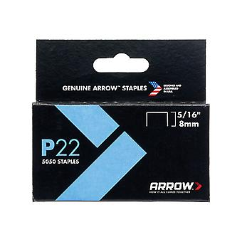 Arrow P22 Staples 8mm ( 5/16in) Box 5050 ARRP22516