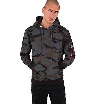 Alpha Industries Men's Hooded Sweater Back Print Camo