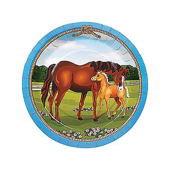 8 Store Mare og Foal Horse Paper Party Plater