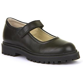 Froddo Girls G3140114 School Shoes Black Leather