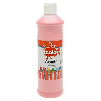Scola Artmix Ready Mixed Tempera Paint 600ml (Pink)