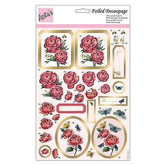Anita's Foiled Decoupage Ruusu blooms