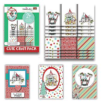 Polkadoodles Gnome Together Christmas Cute Craft Topper Pack