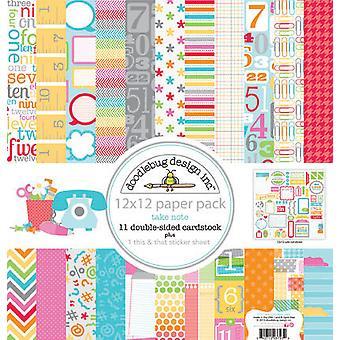 Doodlebug Дизайн Принять к сведению 12x12 дюймовый бумажный пакет