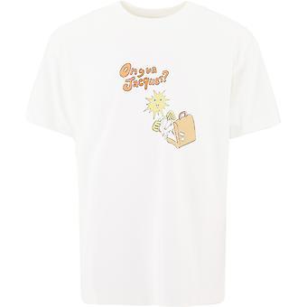Jacquemus 206js17206218753 Men's White Cotton T-shirt