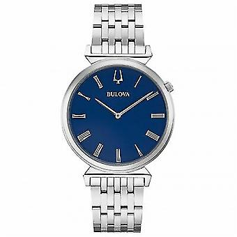 Bulova Watches 96a233 Regatta Blue & Silver Stainless Steel Men's Watch