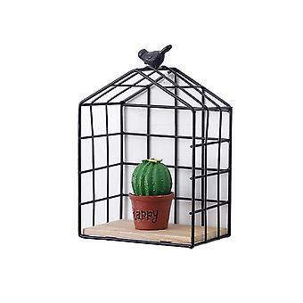 Balcony Wall Storage Basket Black 15.5x9.5x22.5cm