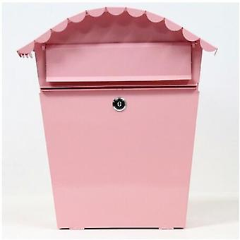 Creative Pastoral Painted With Lock Letterbox - Waterproof  Wall Mounted Home Decoration Mailbox