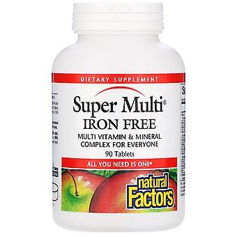 Natürliche Faktoren, Super Multi, Eisenfrei, 90 Tabletten