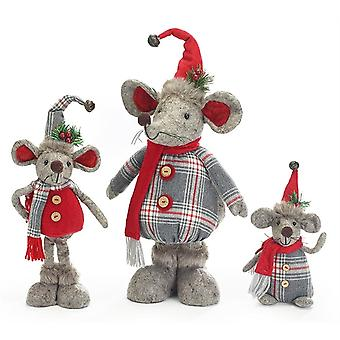 Christmas Assortment 3 Mice Decoration Or Gift