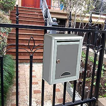 Metal Security Locking Mailbox Letter Box Suggestion Box Newspaper