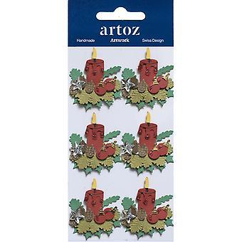 Rot Weihnachten Kerzen Handwerk Verschönerung von Artoz