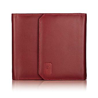 Burgundy Oxford leather CD case