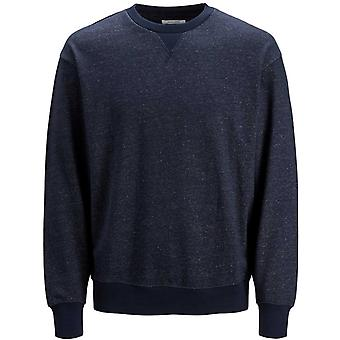 Jack & Jones Melange Crew Neck Sweatshirt Navy 62