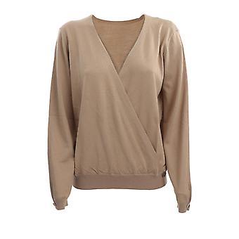 Twin-set 202tp347100310 Women's Beige Silk Sweater