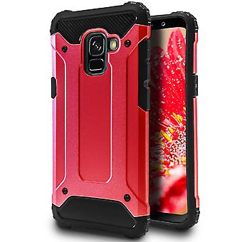 Hard Mobile Shell for Samsung Galaxy A5 (2018) Red Hybrid