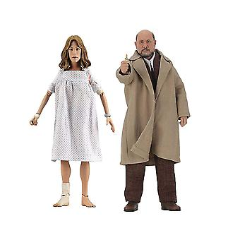 "Halloween 2 Dr Loomis & Laurie Strode 8"" Action Fig 2-pack"