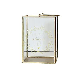 005424 - Gold Happiness Lantern - Arthouse Home Decor