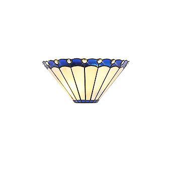 Luminosa Valaistus - Tiffany Seinävalaisin, 2 x E14, Sininen, Kristalli