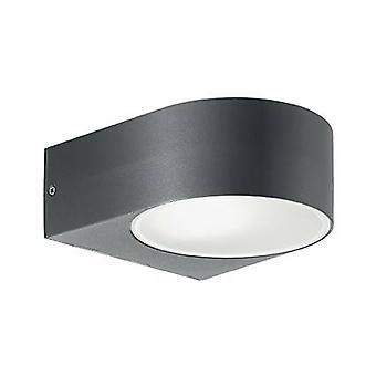 1 Luce esterna su giù parete luce antracite IP55, E27