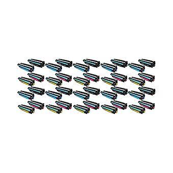 RudyTwos 10X korvaaminen HP 507A Aseta väri aine yksikkö musta syaanin magenta & keltainen yhteensopiva LaserJet Enterprise 500 M551n, M551d, M551dn, M551x, M551xh, väri MFP M570dw, väri virtaus monitoimilaite M575c, C