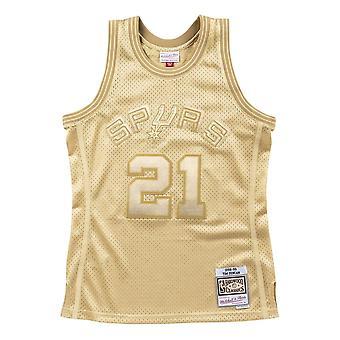 Mitchell & Ness Nba Midas Swingman Jersey Spurs 98 Tim Duncan SMJYBW19079SASMTG98TDU basket-ball toute l'année hommes t-shirt