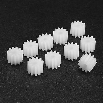 Uxcell 10pcs 9/11 Teeth 092/112a Plastic Shaft Gear- 2mm Hole Toy Accessories
