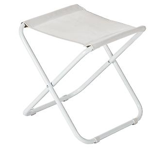 Classic Folding Stool - Lightweight Material Practical Foldable Design - White