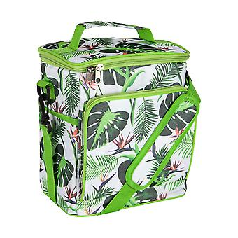 Nicola Spring Insulated Cooler Bag - Soft Sided Lunch Picnic BBQ Cool Bag with Shoulder Strap - Tropical