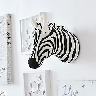 3d Animal Head Wall Mount Zebra/elephant/giraffe Stuffed Toys For Children Birthday Decoration &christmas Gift