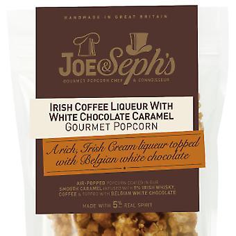 Ierse koffielikeur met witte chocolade caramel popcorn