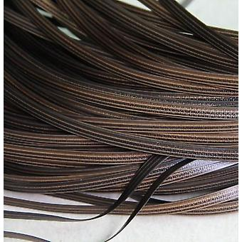 65meters Coffee Gradient Flat, Synthetic Rattan Weaving Material Plastic Rattan